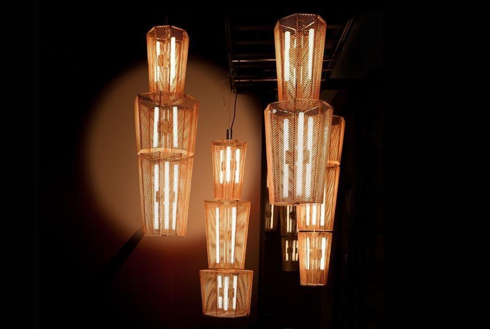 Lampada In Rame Design : Ottone oro e rame materiali protagonisti della tendenza vintage