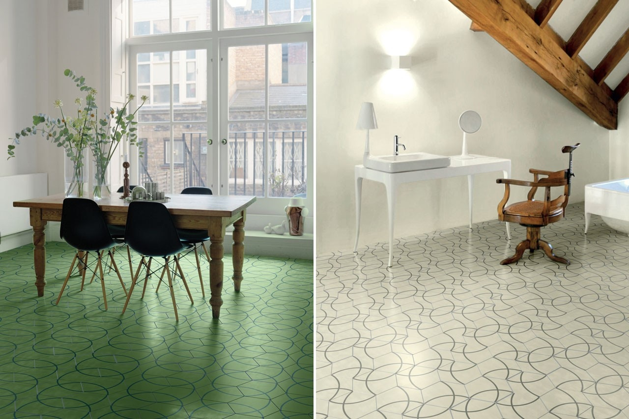 Paola Navone, Bisazza Contemporary Cement Tiles