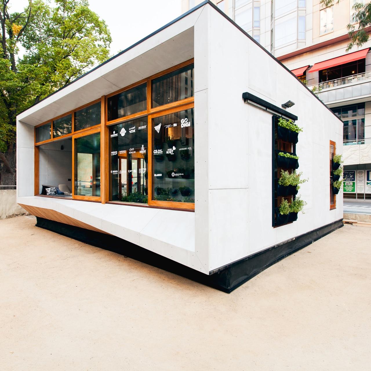 Carbon positive house for Prefab homes melbourne