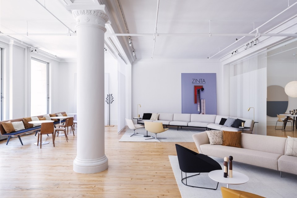 Vista dello showroom Arper a New York