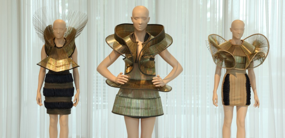 """9fc894100c0b """"Iris van Herpen: Transforming Fashion"""", view of the exhibition at High  Museum. """""""