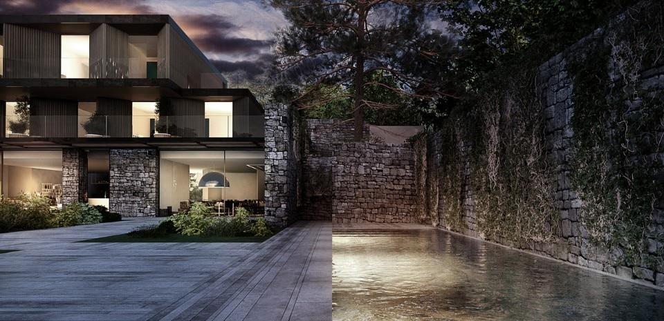 In equilibrio sull acqua domus for Piani di casa con vista sull acqua