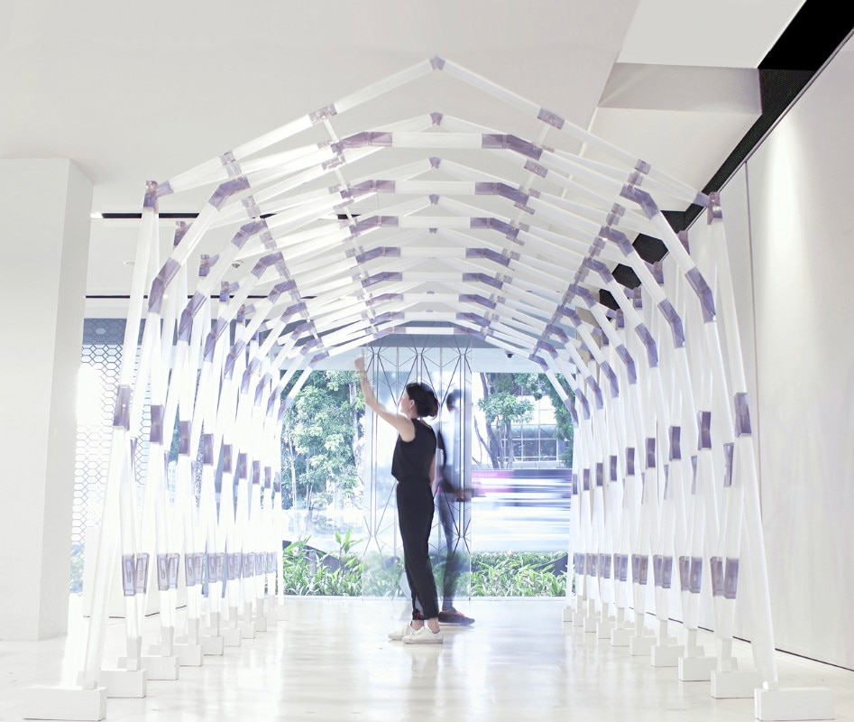 Harvard GSD, printed canopy structure, Interlocking Pavilion