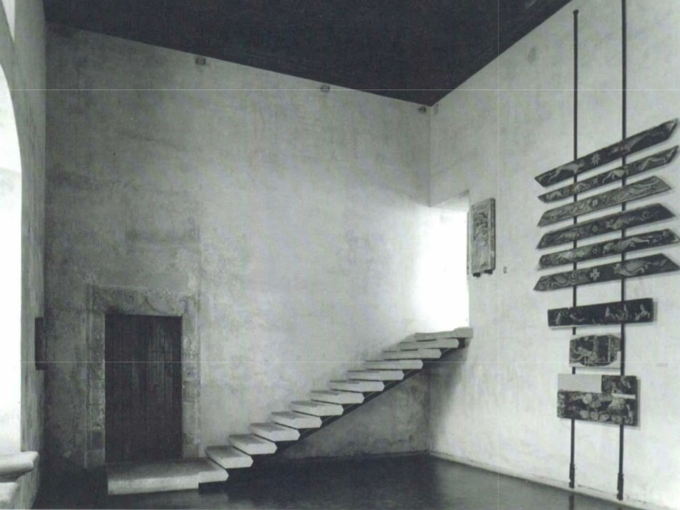 From Domus 708, September 1989. Carlo Scarpa, Exhibition design of Palazzo Abatellis in Palermo, 1953-54