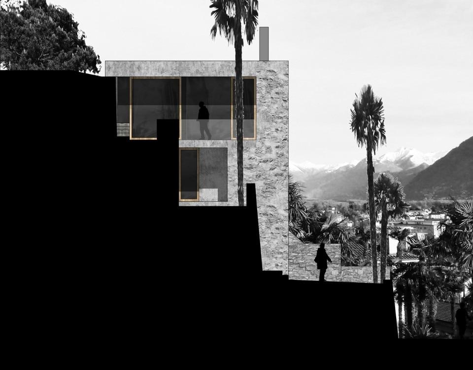 Casa sul lago ad ascona domus for Disegni casa sul lago