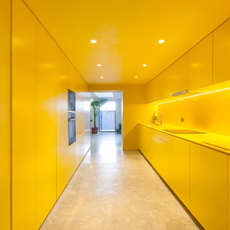 Design firm russian for fish uses bright yellow to for Design firms london