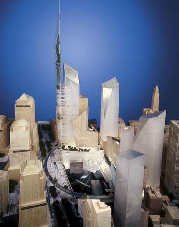 "Libeskind and Think Design ""favourites"" for Ground Zero"