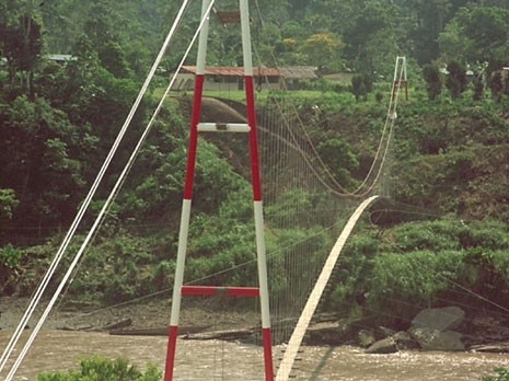 Bridge at San Jose del Aguarico, Sucumbios, Ecuador