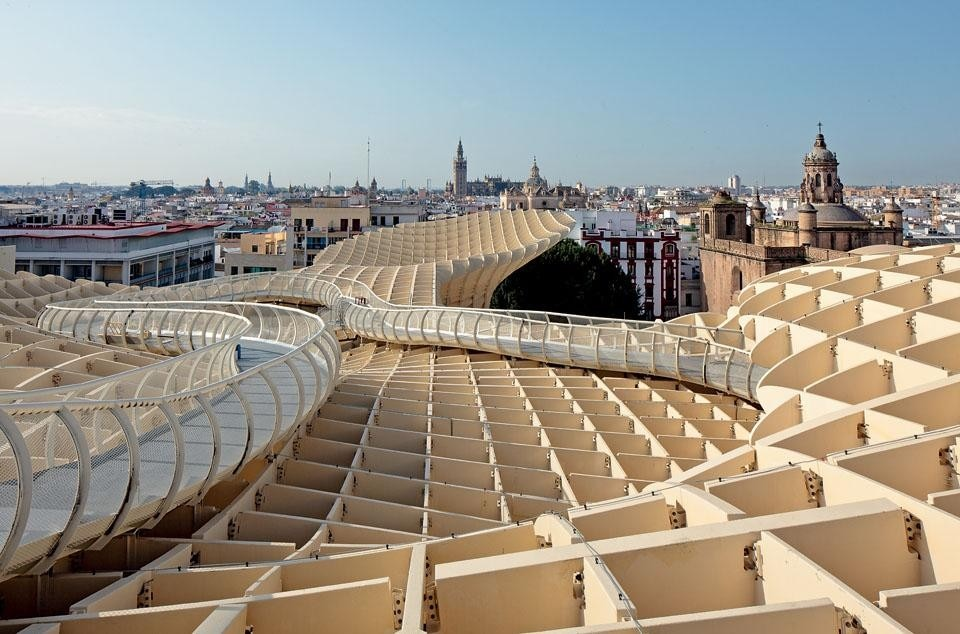 "Mayer refers to Metropol Paraasol as a ""cathedral without walls"", an architectural