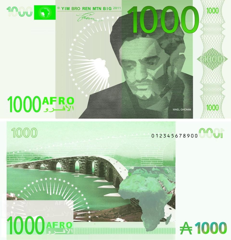 The <i>Afro,</i> front and back of imaginary currency designed by Bjarke Ingels/BIG.