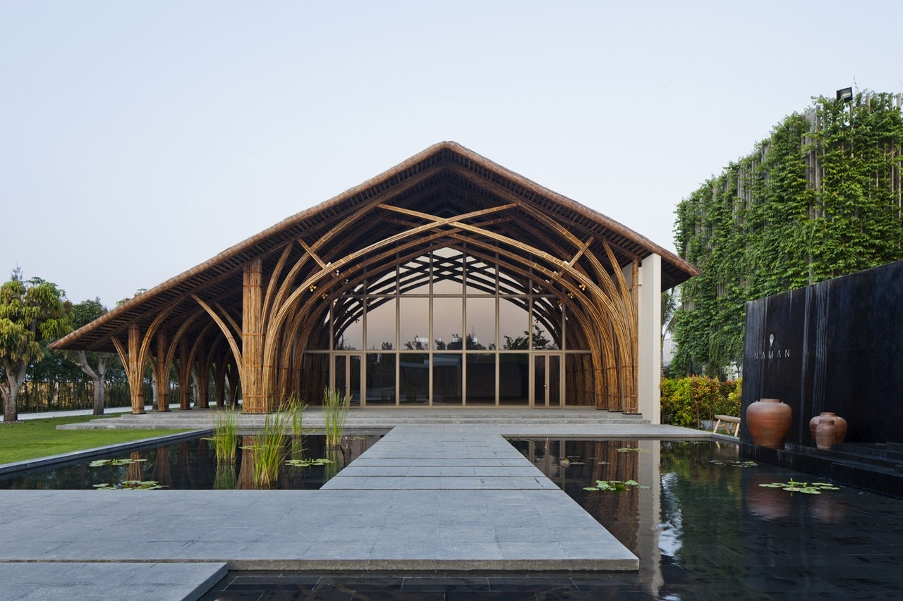Bamboo conference hall