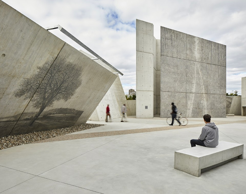 The Holocaust Monument by Libeskind combines architecture, art, landscape and scholarship