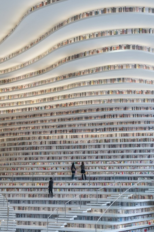 MVRDV has designed a landscape of books in Tianjin