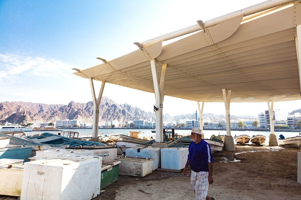 Oman. The Muttrah Fish Market by Snøhetta unites the old and the new