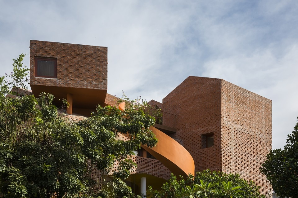 Vietnam. An acrobatic kindergarten made of bricks