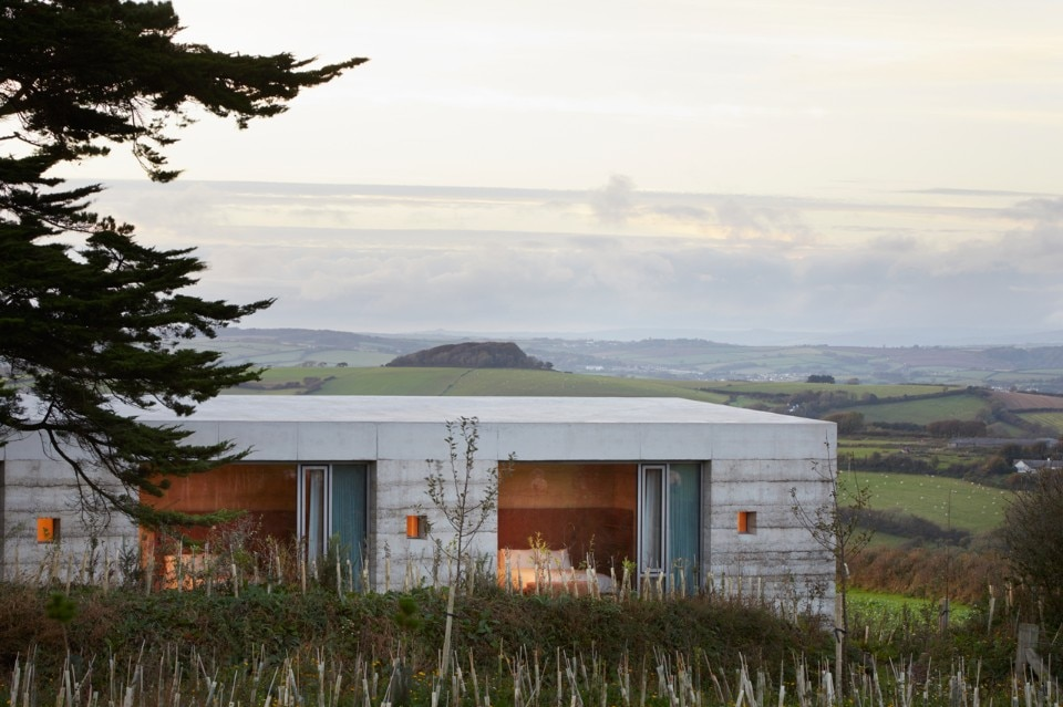 Peter Zumthor's layered concrete villa surveys the Devonshire countryside