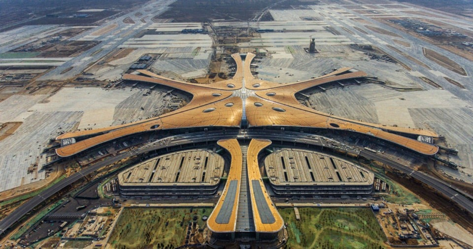 The largest airport in the world? The Daxing International Airport in Beijing