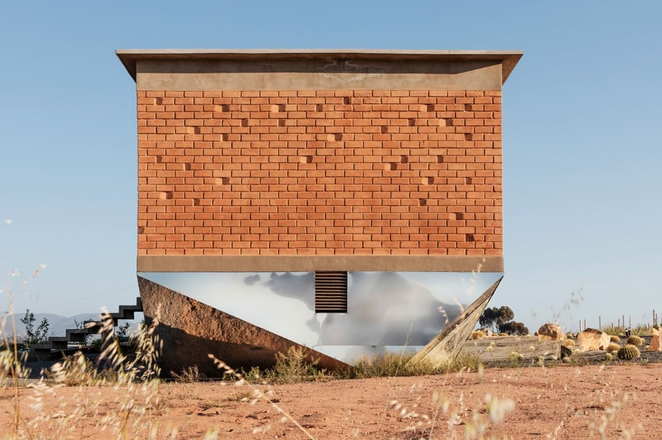 Optical illusions: a rammed-earth bed & breakfast floats over the Mexican countryside