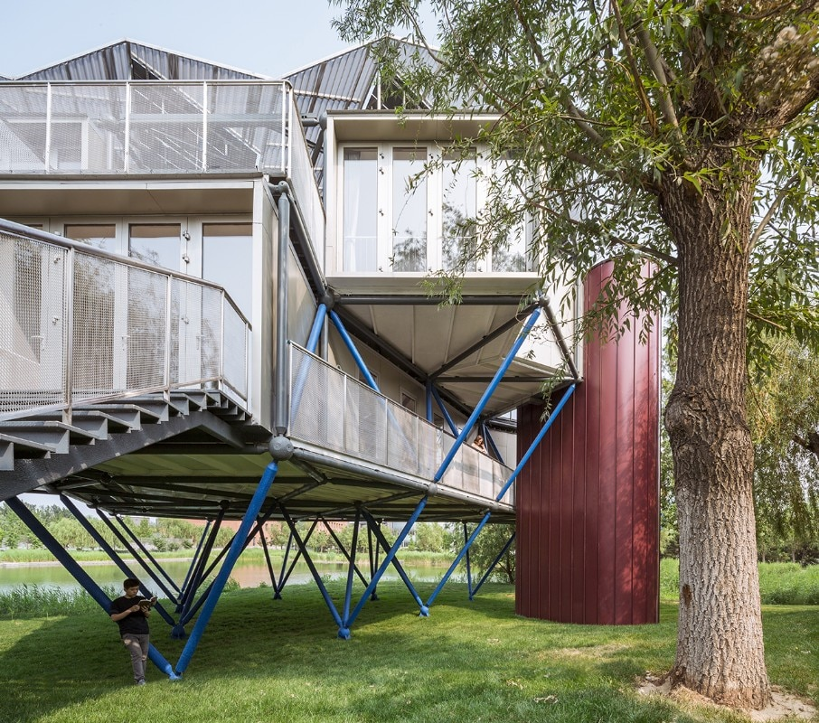 People's Architecture Office, Lakeside Plugin Tower, Xiong'an, China, 2018