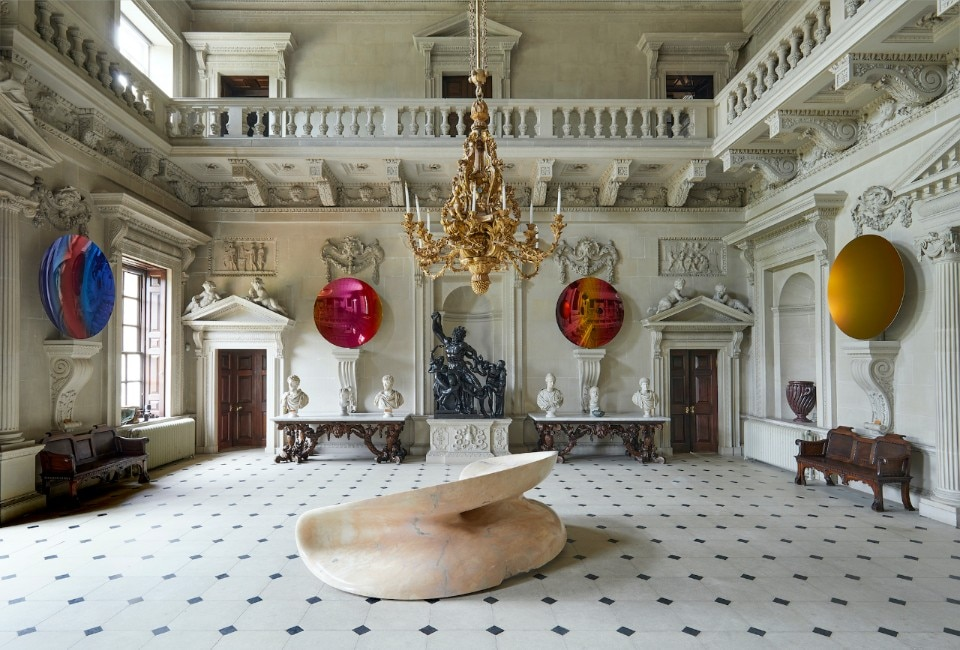 Anish Kapoor's works on display at Houghton Hall