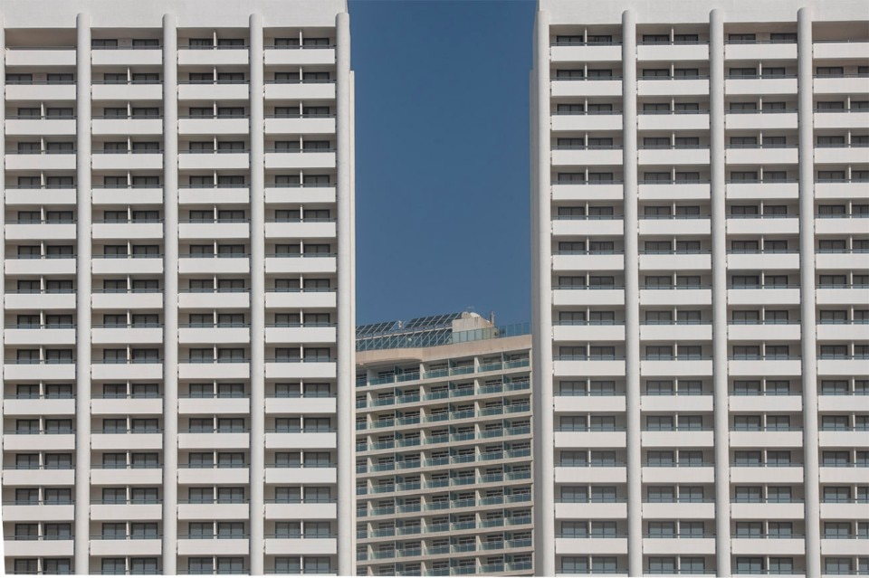 Empty hotels in Benidorm as a metaphor of the moment