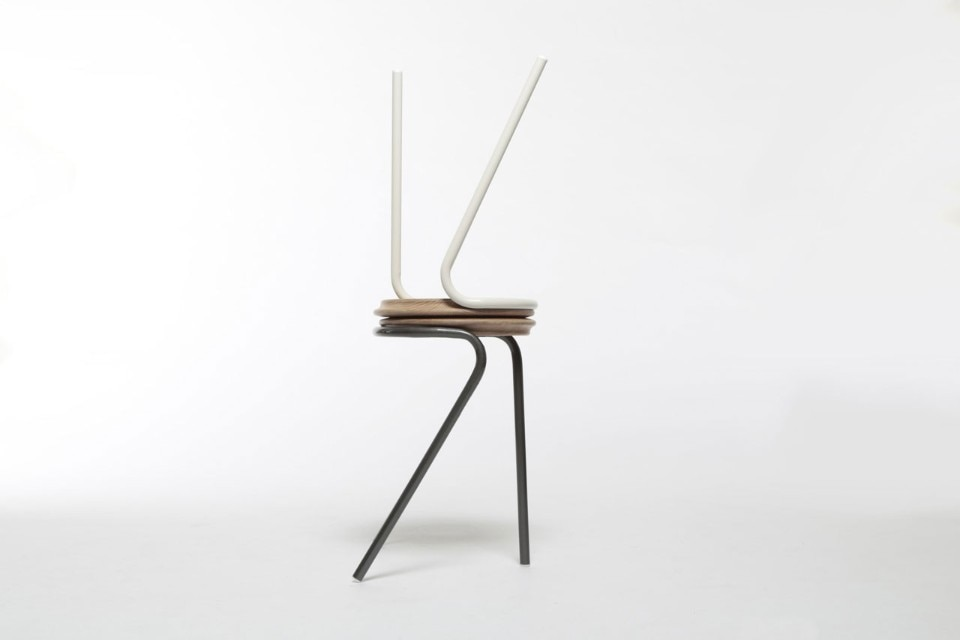 Upcycled and minimal. Xiang Guan's new stool series