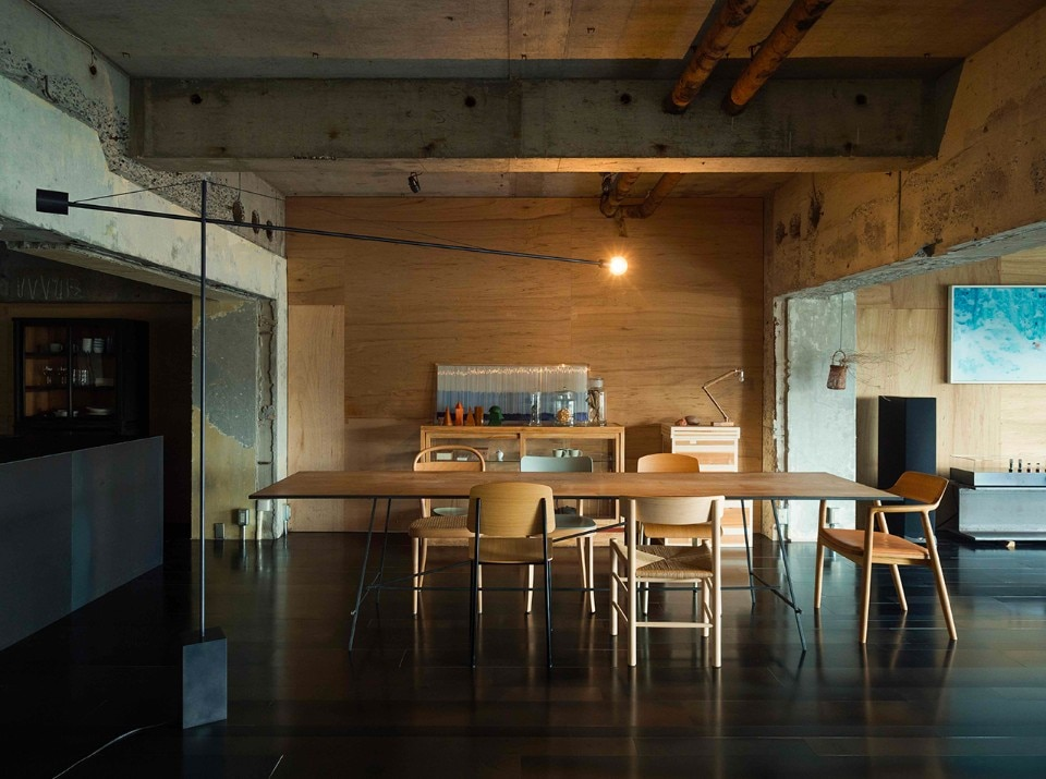 Hiroshima. An old naked apartment dresses with contemporary elements