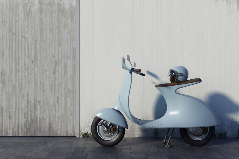A different take of the electric Vespa