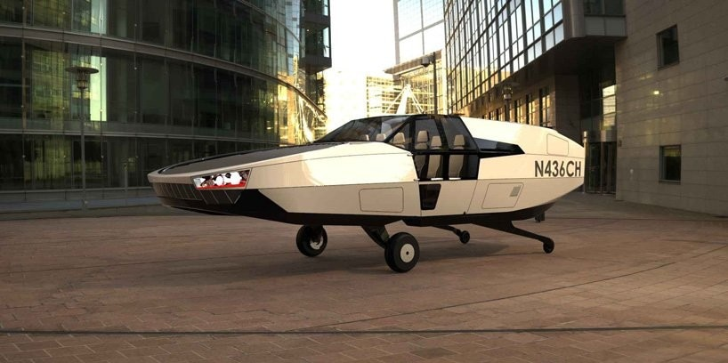 CityHawk is an electric flying car that looks a bit like a DeLorean