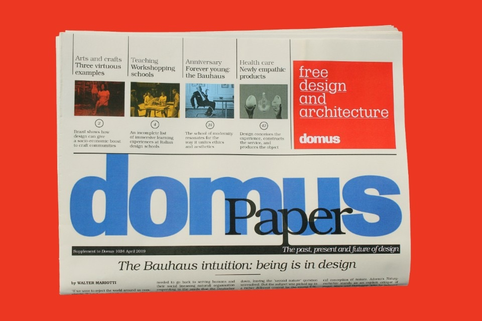 Domus Paper: the past, present and future of design