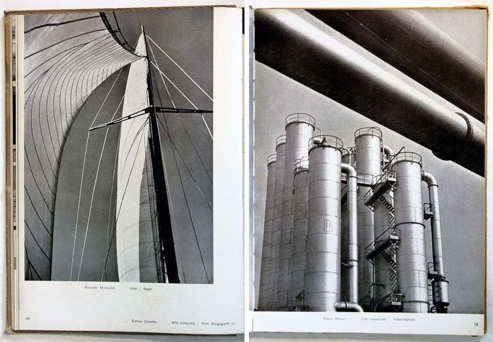 Domus Almanac 1943, <em>Fotografia. Prima rassegna dell'attività fotografica italiana</em> [Photography. First review of photography in Italy]. Left, photo by Riccardo Moncalvo. Right, photo by Bruno Stefani