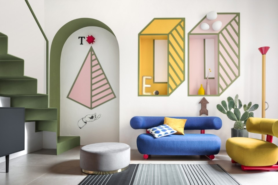A 15 sqm room in Milan is an homage to Ettore Sottsass