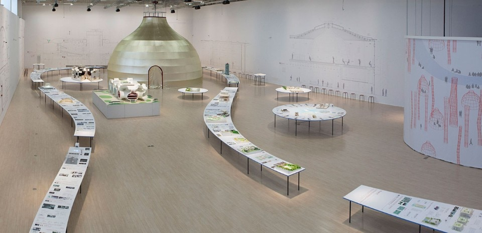 "Installation view of ""Toyo Ito: On the Stream"", Power Station of Art, Shangahi"