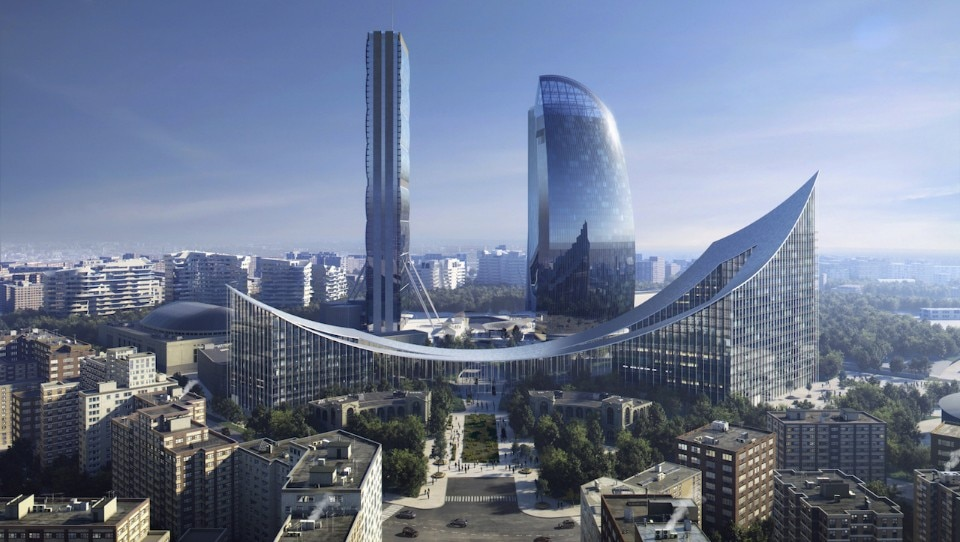 BIG unveiled the new access to Milan CityLife district