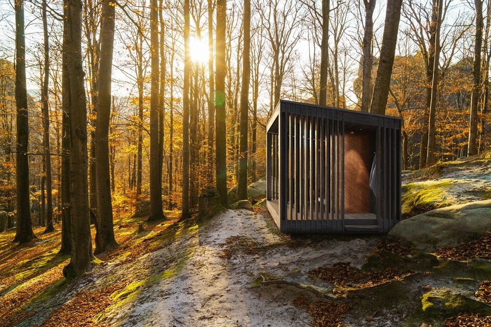 Wooden and copper sauna changes with time