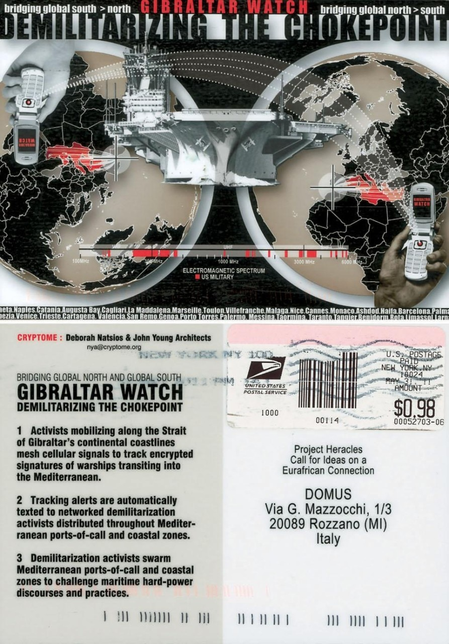 Gibraltar Watch. Demilitarizing the checkpoint, progetto di Cryptome (Deborah Natsios & John Young Architects), New York.