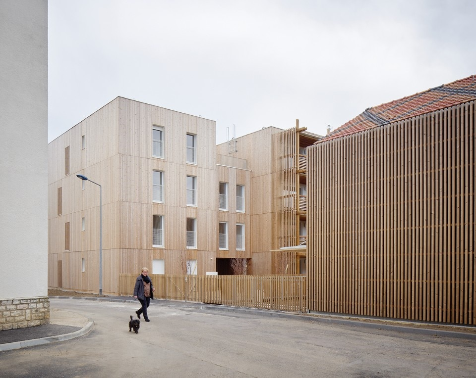 Odile + Guzy Architectes, 26 social housing, Chalon-sur-Saône, France, 2017