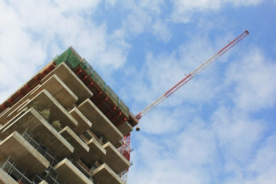 Bosco Verticale in cantiere